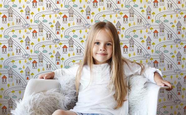 Tapeta krajobraz miejski dla dzieci