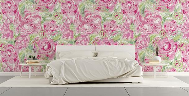 Tapeta kwiaty do sypialni