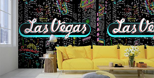 Tapeta Las Vegas nocą