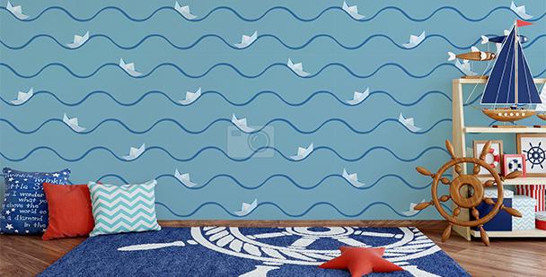 Tapeta łodzie origami
