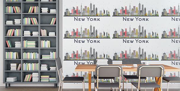 Tapeta miejska panorama Nowego Jorku