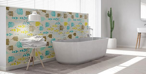 Tapeta morskie inspiracje do łazienki