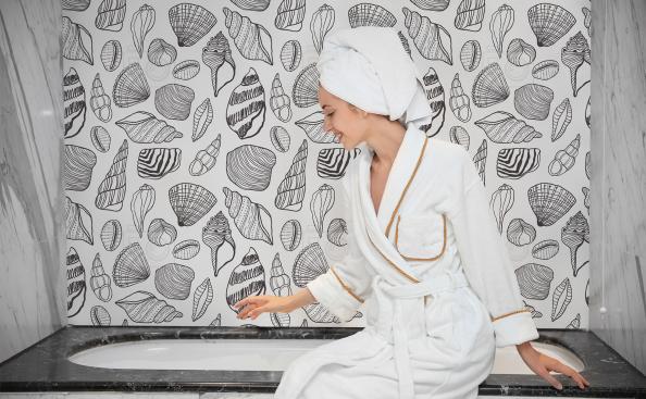 Tapeta muszle do łazienki