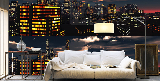 Tapeta nocna panorama miasta