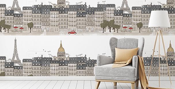 Tapeta panorama miasta: Paryż
