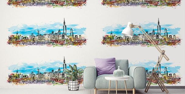 Tapeta panorama nowoczesnego miasta