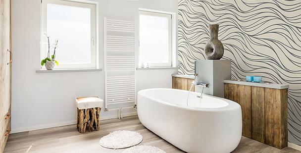 Tapeta piaskowy motyw do łazienki