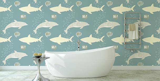 Tapeta podwodny świat - do łazienki