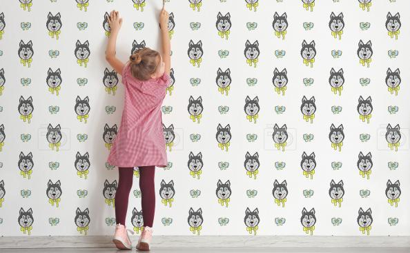 Tapeta psy husky dla dzieci