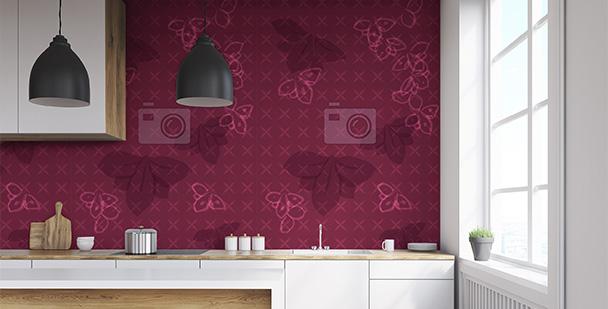 Tapeta purpurowe storczyki