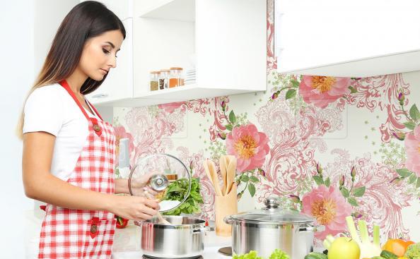 Tapeta róże vintage do kuchni