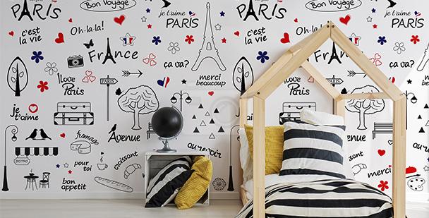 Tapeta symbole Paryża