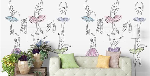Tapeta tańczące baletnice