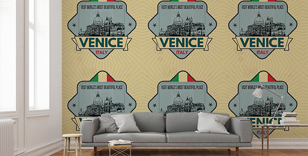 Tapeta Wenecja: emblemat retro