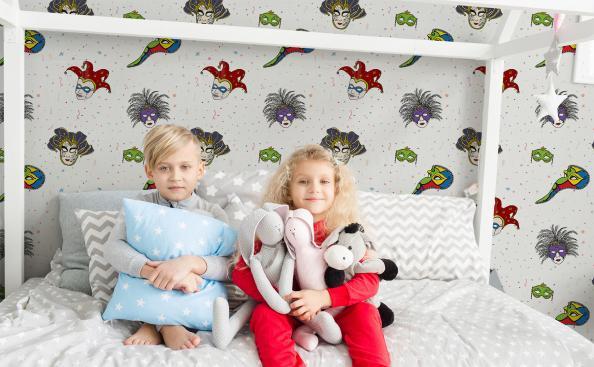 Tapeta weneckie maski do pokoju dziecka