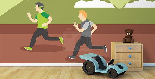 Tapeta wyścig biegaczy