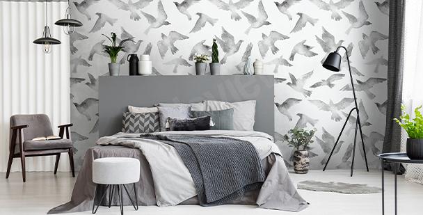 Tapeta z lecącymi ptakami