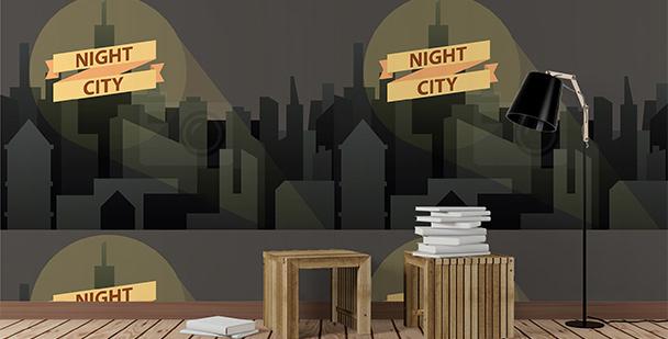 Tapeta z nocnym krajobrazem miasta
