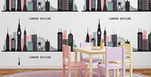 Tapeta z panoramą Londynu