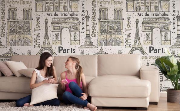 Tapeta zabytkowy Paryż