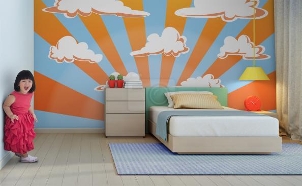Tapeta zachód słońca do pokoju dziecka