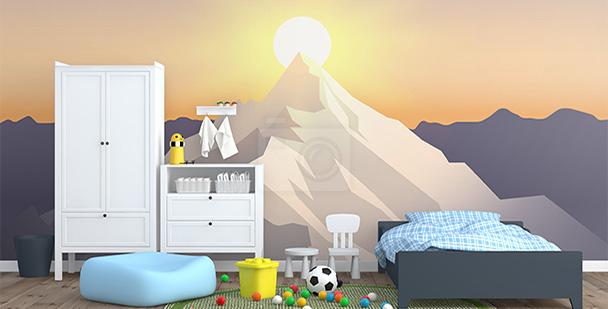Tapeta zachód słońca w górach