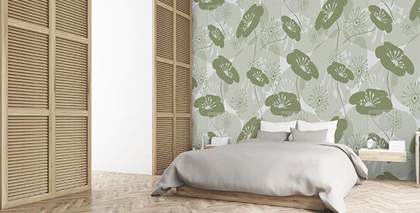 Tapeta zielone rośliny do sypialni