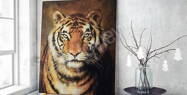 Tygrys obraz na płótnie
