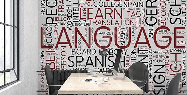 Typograficzna fototapeta do szkoły