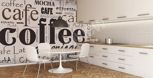 Typograficzna fototapeta kawa