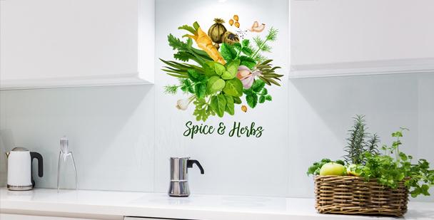Typograficzna naklejka do kuchni