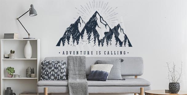 Typograficzna naklejka góry