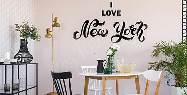 Typograficzna naklejka Nowy Jork