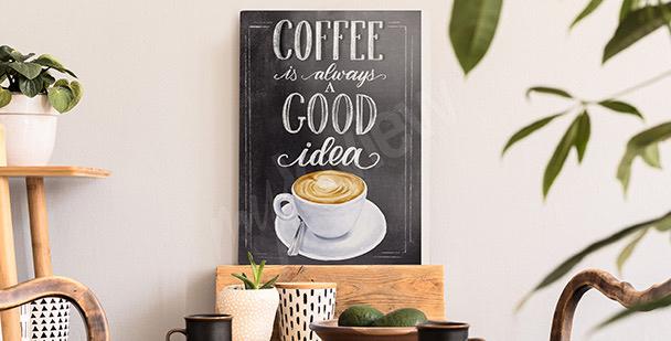 Typograficzny obraz kawa