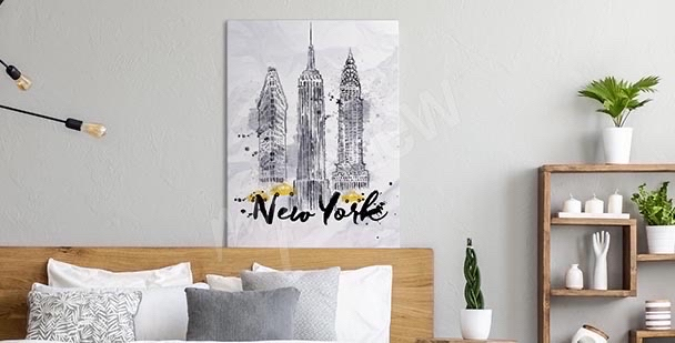 Typograficzny obraz Nowy Jork