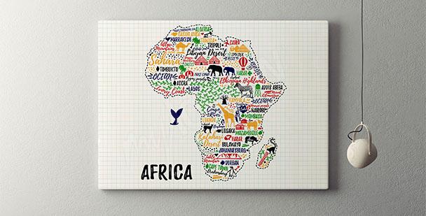 Typograficzny plakat Afryka