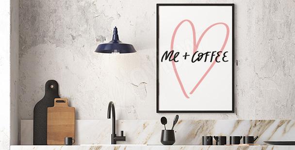 Typograficzny plakat minimalizm