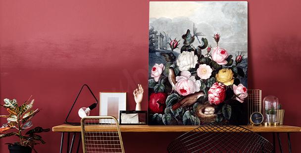 Wyrazisty obraz floral style