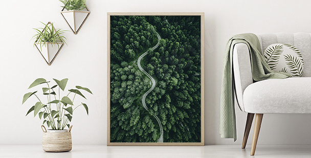 Zielony plakat natura